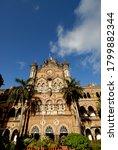 Small photo of Mumbai; Maharashtra; India: Asia; May; 19; 2008 - Chhatrapati Shivaji Terminus (CST) formerly Victoria Terminus a UNESCO World Heritage Site headquarters of the the Central Railways