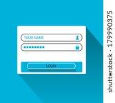 vector login website template...