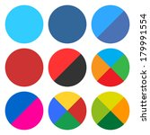 9 blank circle icon set....