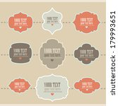 set of retro style labels.... | Shutterstock .eps vector #179993651