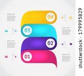 modern business origami style... | Shutterstock .eps vector #179995829