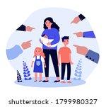 single mother social problems.... | Shutterstock .eps vector #1799980327