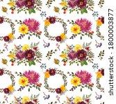 Fall Flowers Seamless Pattern....