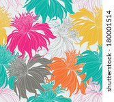 hand drawn seamless floral...   Shutterstock .eps vector #180001514