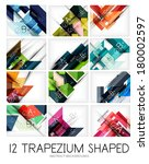 collection of trapezium... | Shutterstock .eps vector #180002597