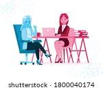 two office female worker... | Shutterstock .eps vector #1800040174