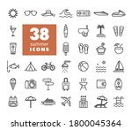 summer vector icons set. graph...