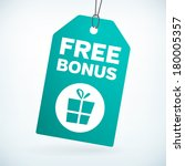 free bonus gift tag vector tag. ...   Shutterstock .eps vector #180005357