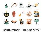 happy halloween  trick or treat ...   Shutterstock .eps vector #1800055897