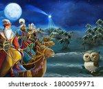 religious illustration three...   Shutterstock . vector #1800059971