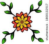 floral vector design. in yellow ...   Shutterstock .eps vector #1800132517