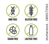 lactose free  sugar free ...   Shutterstock .eps vector #1800172561
