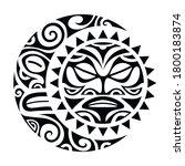 sun and moon maori style tattoo ...   Shutterstock .eps vector #1800183874