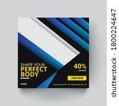 gym social media banner... | Shutterstock . vector #1800224647