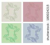 invitation cards   vector | Shutterstock .eps vector #180024215