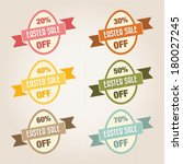 easter sale text  vintage style | Shutterstock .eps vector #180027245