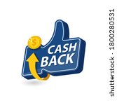 vector cash back icon isolated... | Shutterstock .eps vector #1800280531