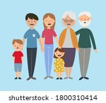 a happy family. parents and... | Shutterstock .eps vector #1800310414