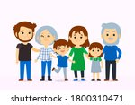 a happy family. parents and... | Shutterstock .eps vector #1800310471