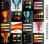 set of modern design template ... | Shutterstock .eps vector #180033011