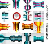 set of modern design template ... | Shutterstock .eps vector #180033644