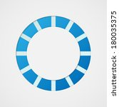 blue and white circle abstract...