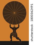greek mythology atlas holding... | Shutterstock .eps vector #1800362491