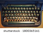 A Qwerty Keyboard Of A Vintage...