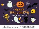 happy halloween scary... | Shutterstock .eps vector #1800382411