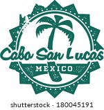 Vintage Style Cabo San Lucas Mexico Vacation Stamp