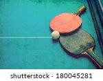 tabletennis grunge background | Shutterstock . vector #180045281