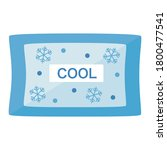simple ice pack with a flat... | Shutterstock .eps vector #1800477541