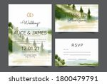 wedding invitation with... | Shutterstock .eps vector #1800479791