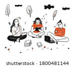 students are working in a group ...   Shutterstock .eps vector #1800481144