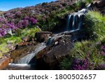 A Small Rocky Waterfall In The...