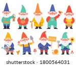 Gnome Characters. Cute Gnomes...