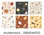 terrazzo seamless pattern....   Shutterstock .eps vector #1800564331