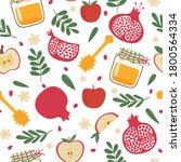 shana tova seamless pattern.... | Shutterstock .eps vector #1800564334