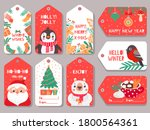 christmas tag. winter holiday... | Shutterstock .eps vector #1800564361