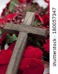 wooden cross | Shutterstock . vector #180057347
