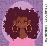 african american girl portrait... | Shutterstock .eps vector #1800584524
