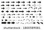 arrows big black set icons.... | Shutterstock .eps vector #1800589081