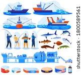 Fishing Industry Vector...