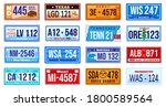 american car number plate...   Shutterstock .eps vector #1800589564