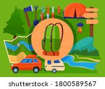 outdoor eco tourism  camping... | Shutterstock .eps vector #1800589567