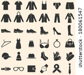 vector set of clothes icons | Shutterstock .eps vector #180061547