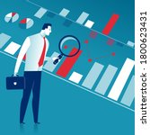 expertise. the manager analyzes ... | Shutterstock .eps vector #1800623431