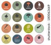 organic food labels | Shutterstock .eps vector #180062669