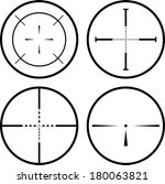 set of four black crosshair.... | Shutterstock .eps vector #180063821