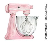 Watercolor Pink Mixer For...